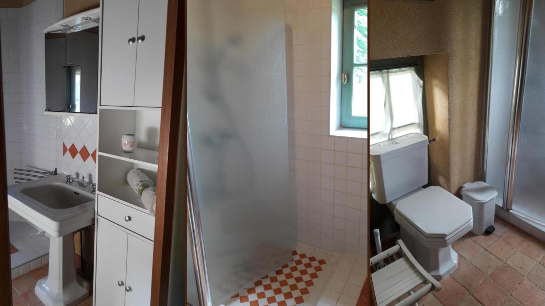 toilette et salle de douche